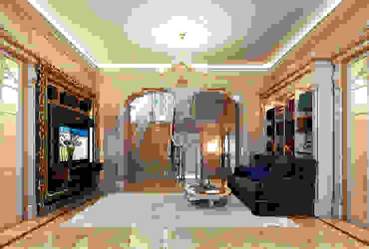 Гостиная, вид на арочный вход и зону ТВ Гостиная в классическом стиле от Y&S ARCHITECTURE – INTERIOR DESIGN Классический