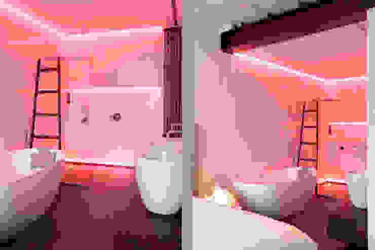 Schelpstraat Den Haag:  Badkamer door Architectenbureau Filip Mens