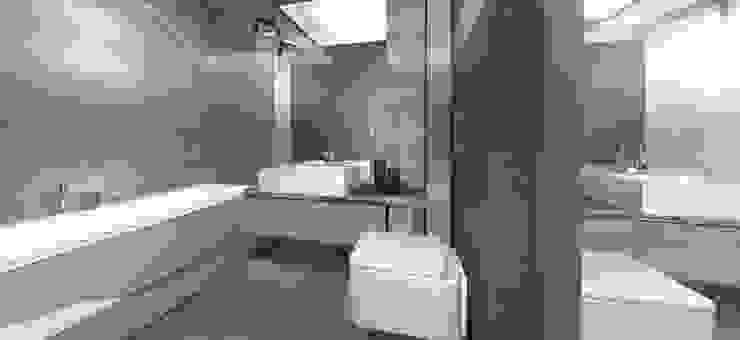 Projekt mieszkania Warszawa Nowoczesna łazienka od Architekt wnętrz Ilona Sobiech Nowoczesny