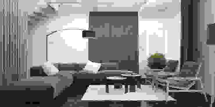 гостиная Гостиная в стиле минимализм от Tatiana Shishkina Минимализм