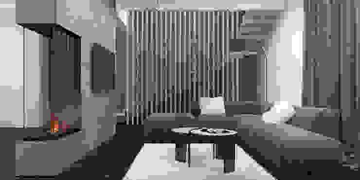 гостиная и лестница Гостиная в стиле минимализм от Tatiana Shishkina Минимализм