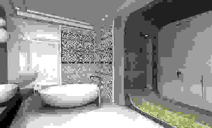 http://ilonasobiech.pl/ Nowoczesna łazienka od Architekt wnętrz Ilona Sobiech Nowoczesny