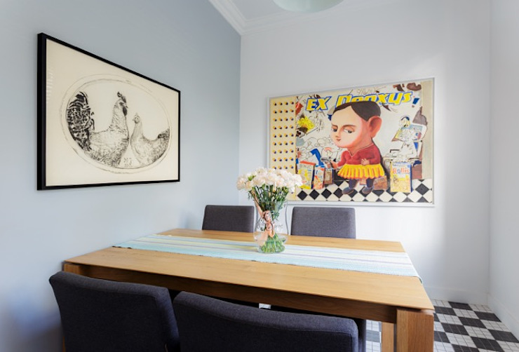 Small apartment in Warsaw Modern dining room by Mięta Morris Modern