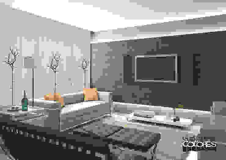 Eclectic style living room by LA VENTANA DE COLORES Eclectic
