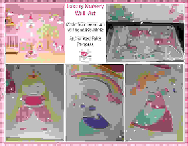 Deluxe Fairy Princess Luxury Nursery Wall Art Sticker Design for a baby girls nursery room 根據 Enchanted Interiors 現代風