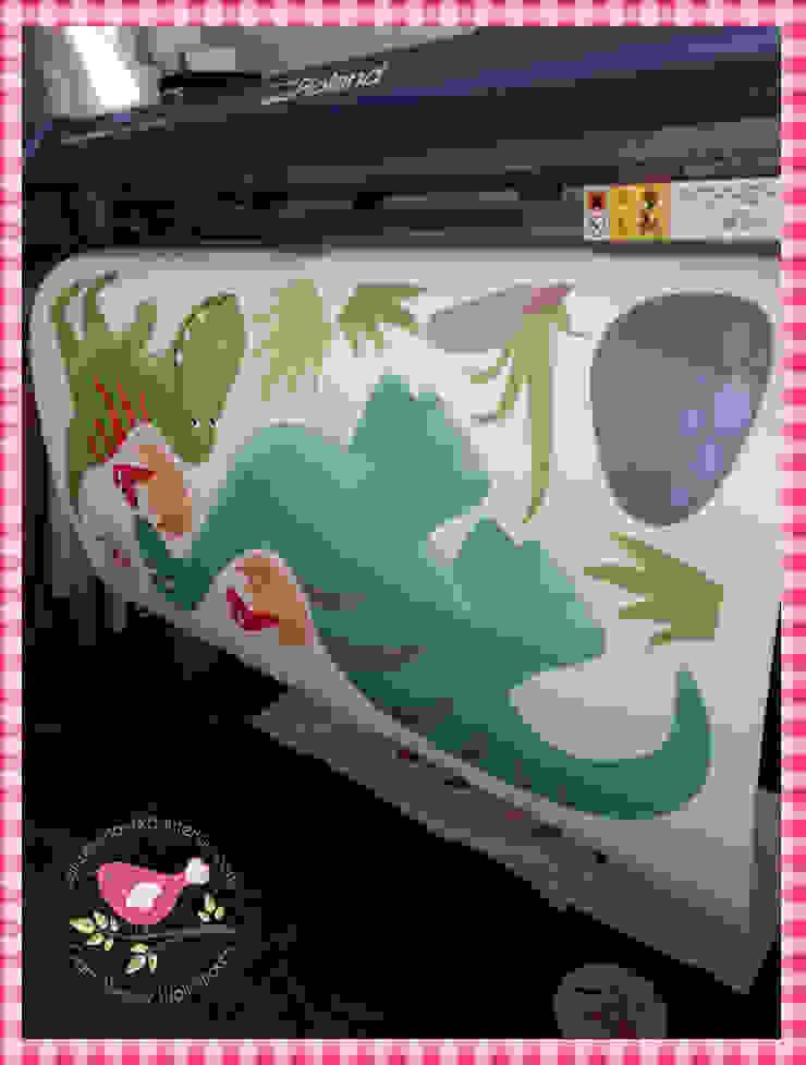 Deluxe Dinosaur Luxury Nursery Wall Art Sticker Design for a baby boys nursery room by Enchanted Interiors Modern