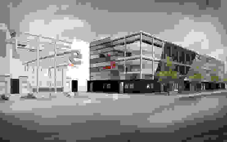 Distributie Centrum – E-commerce Minimalistische kantoorgebouwen van info3280 Minimalistisch