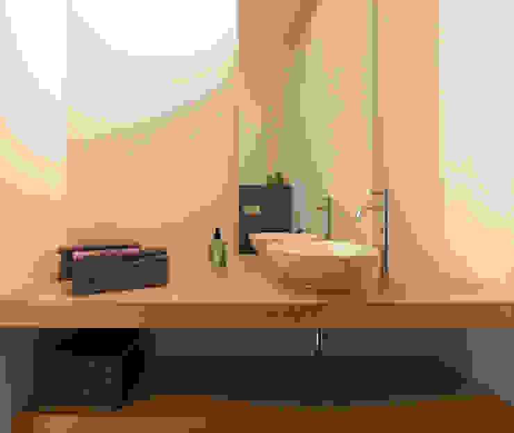 zwart -wit penthouse badkamer Moderne badkamers van Interieurvormgeving Inez Burvenich Modern