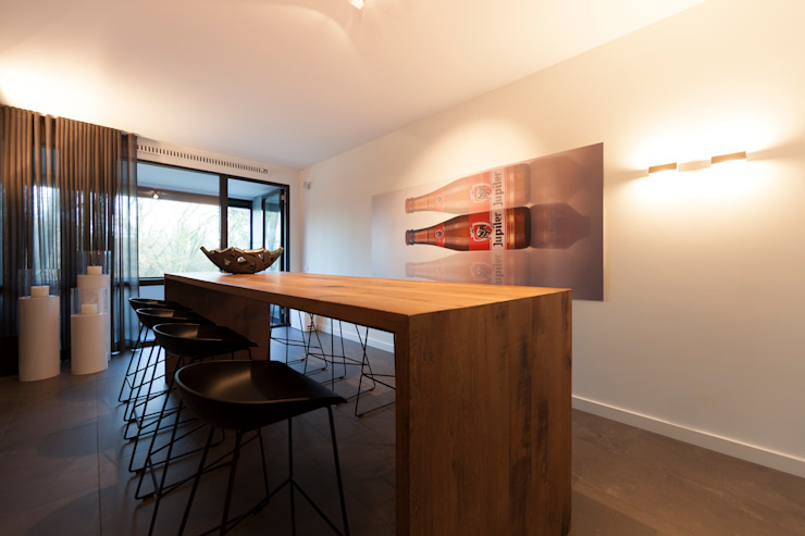 bargedeelte Moderne keukens van Interieurvormgeving Inez Burvenich Modern