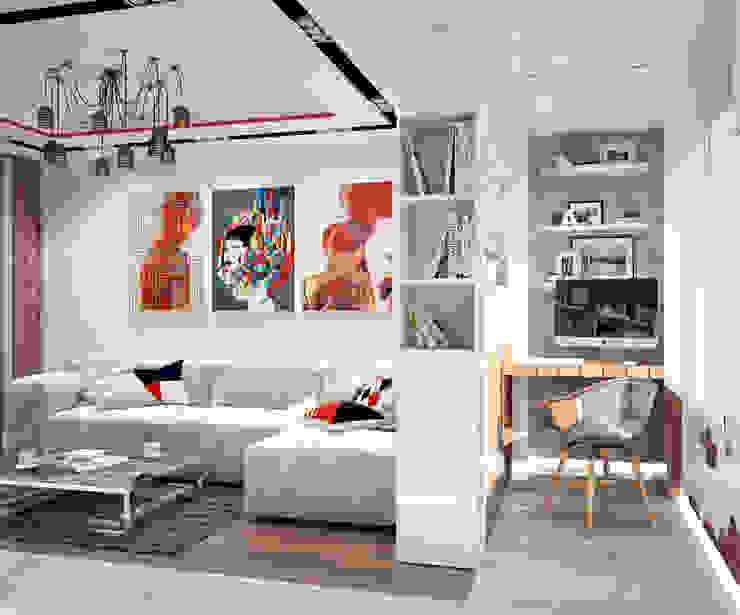 Квартира в современном стиле Гостиная в стиле лофт от Студия архитектуры и дизайна ДИАЛ Лофт