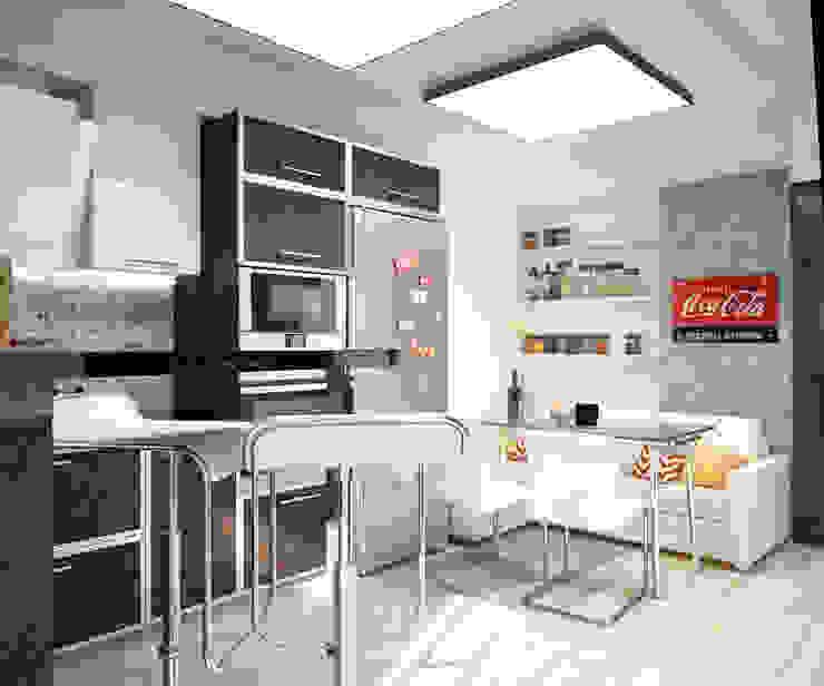 Квартира в современном стиле Кухня в стиле лофт от Студия архитектуры и дизайна ДИАЛ Лофт