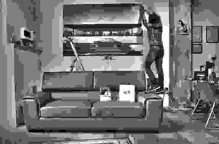 Posa di una stampa ...dedicata al maestro! Studio in stile industriale di Salvo Lombardo Architetto Industrial