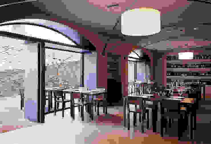 1 la sala ristorante Gastronomia in stile moderno di mag.MA architetture Moderno