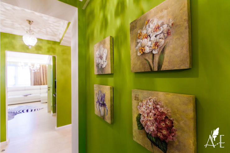 Интерьер квартиры  80 м2: Стены и пол в . Автор – Apolonov Interiors