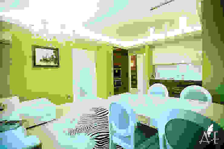 Интерьер квартиры 80 м2 Столовая комната в эклектичном стиле от Apolonov Interiors Эклектичный