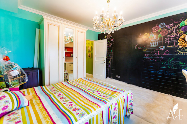 Интерьер квартиры 80 м2 Детские комната в эклектичном стиле от Apolonov Interiors Эклектичный
