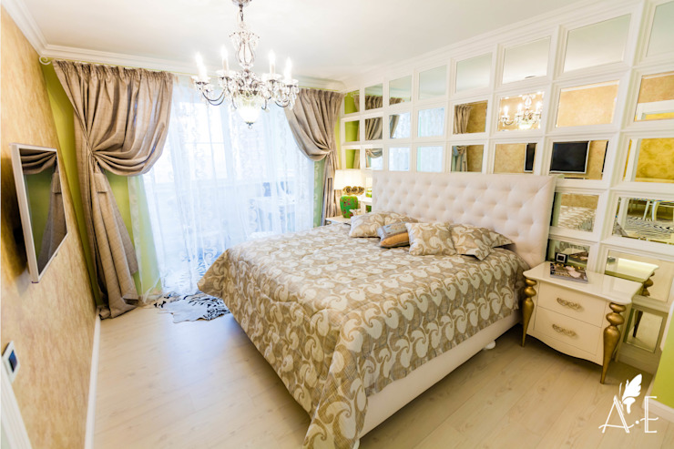 Интерьер квартиры 80 м2 Спальня в эклектичном стиле от Apolonov Interiors Эклектичный