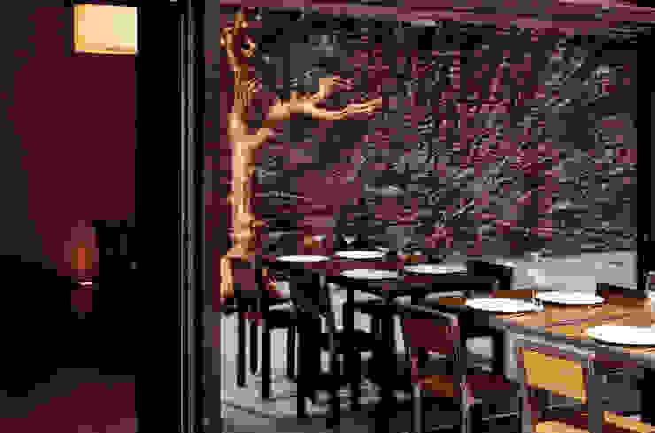 4 la corte esterna Gastronomia in stile moderno di mag.MA architetture Moderno