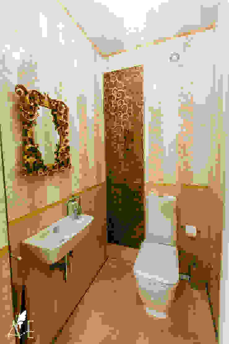 Интерьер квартиры 80 м2 Ванная комната в эклектичном стиле от Apolonov Interiors Эклектичный