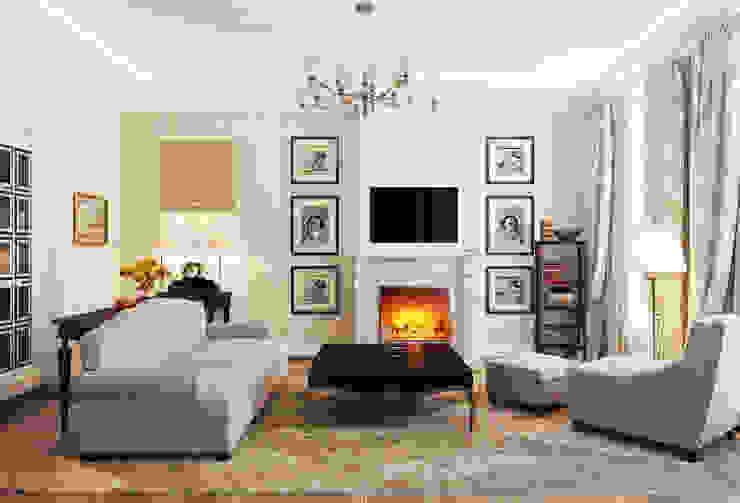 Гостиная Гостиная в классическом стиле от Студия Искандарова Классический