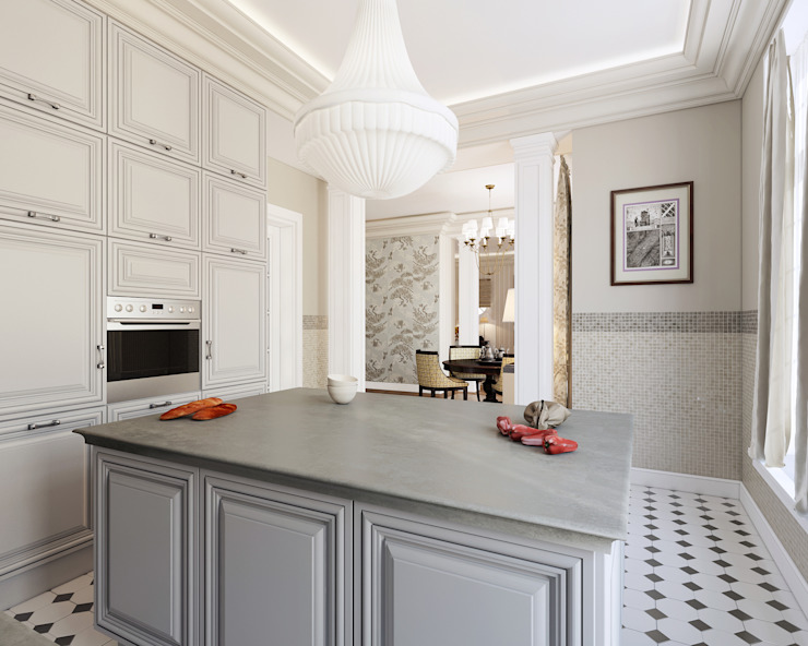 Кухня-столовая Кухня в классическом стиле от Студия Искандарова Классический