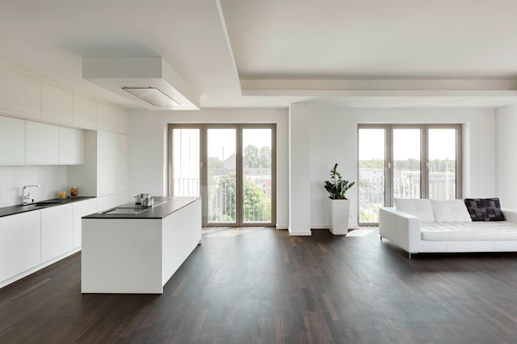 Wohn- Essbereich Moderne Wohnzimmer von Maske + Suhren Gesellschaft von Architekten mbh Modern