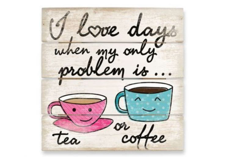 Tableau sur bois - Tea or Coffee par wall-art.fr Éclectique