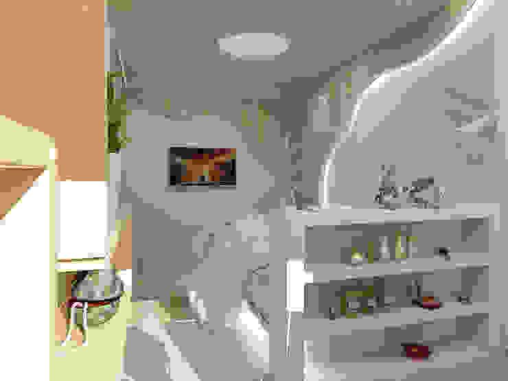 Небольшая двухкомнатная квартира Спальня в эклектичном стиле от Дизайн В Стиле Эклектичный