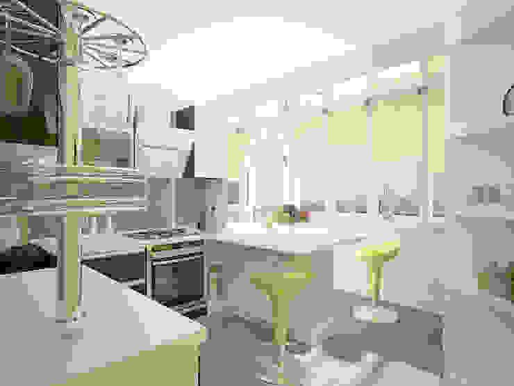 Небольшая двухкомнатная квартира Кухни в эклектичном стиле от Дизайн В Стиле Эклектичный