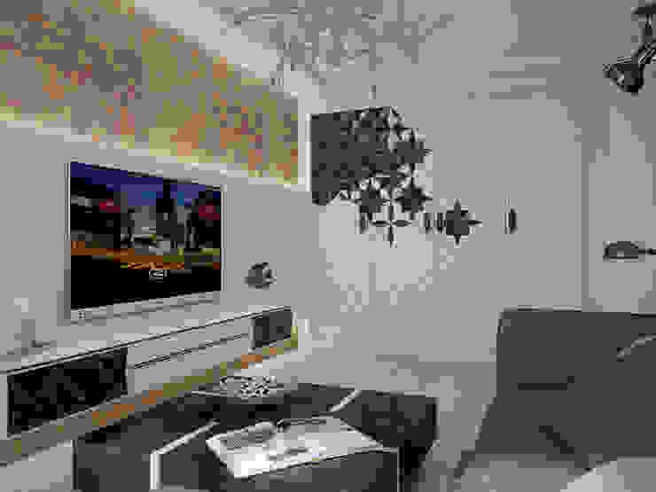 Небольшая двухкомнатная квартира Гостиные в эклектичном стиле от Дизайн В Стиле Эклектичный
