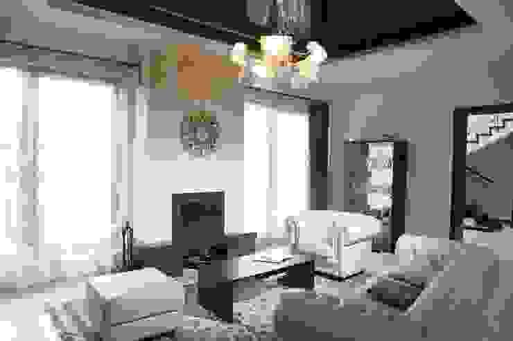 Гостиная и камин Гостиные в эклектичном стиле от Дизайн В Стиле Эклектичный