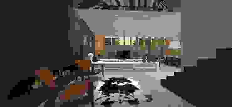Casa JA Salas de estar minimalistas por ZAAV Arquitetura Minimalista