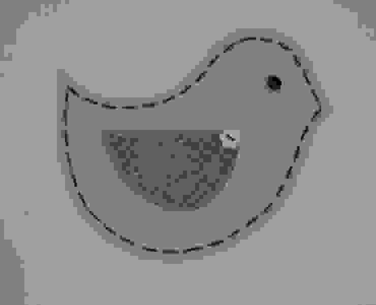 zazdrostki z błękitnymi ptaszkami od Drewniany Guzik Wiejski