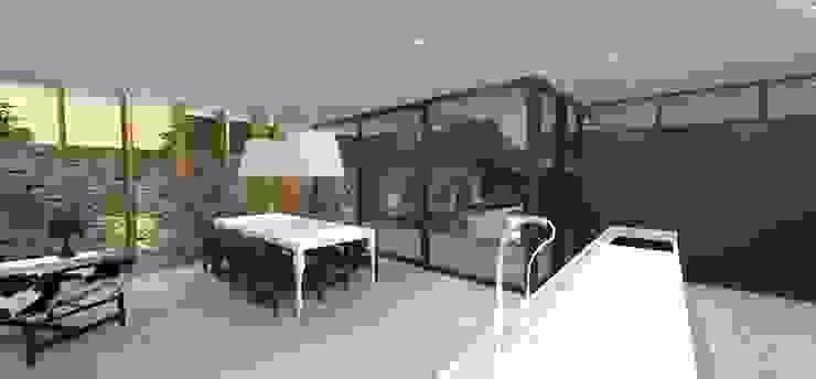 Casa JA Salas de jantar minimalistas por ZAAV Arquitetura Minimalista