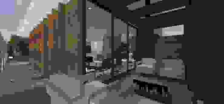 Casa JA Varandas, alpendres e terraços minimalistas por ZAAV Arquitetura Minimalista