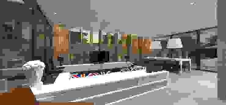 Casa JA Salas multimídia minimalistas por ZAAV Arquitetura Minimalista