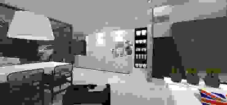Casa JA: Cozinhas  por ZAAV Arquitetura