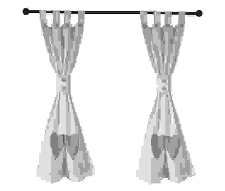 Drewniany Guzik Janelas e portasCortinas e cortinados