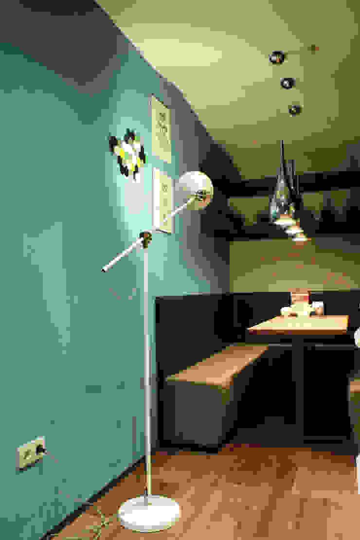 Интерьер сетевого суши-бара Apolonov Interiors Столовая комната в эклектичном стиле