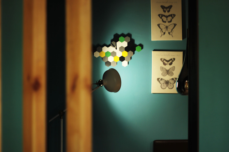Интерьер сетевого суши-бара Apolonov Interiors Стены и полНастенный декор