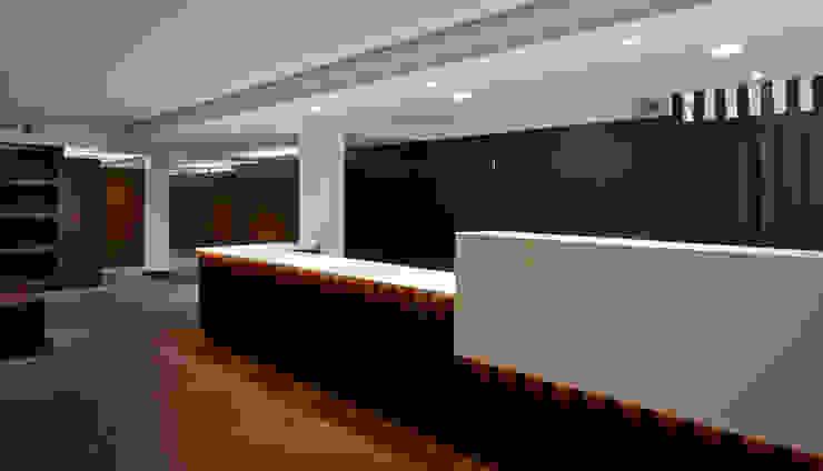Recepcion Pasillos, vestíbulos y escaleras de estilo moderno de DECONS GKAO S.L. Moderno