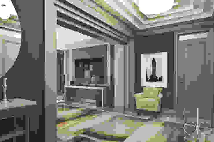 """Дом, американское арт-деко, коттеджный поселок """"Пестово"""" Коридор, прихожая и лестница в эклектичном стиле от BEINDESIGN Эклектичный"""