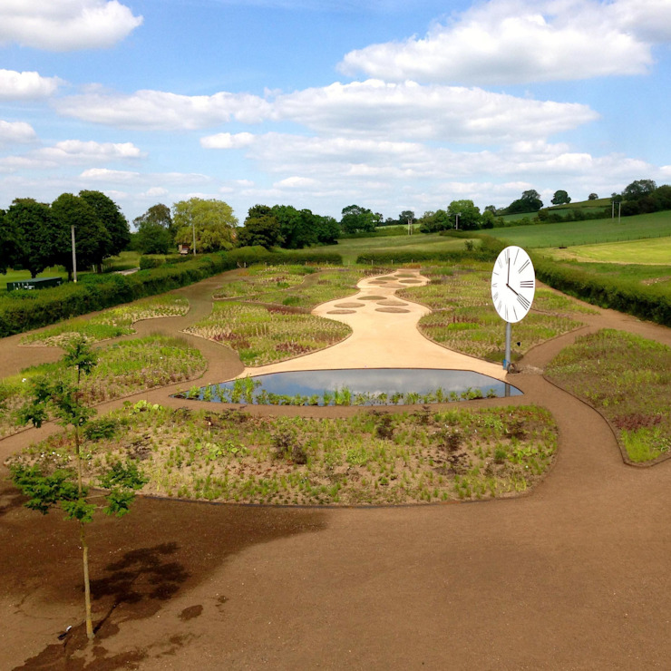 Post-construction Oudolf meadow by Petherick, Urquhart & Hunt Landscape Consultancy