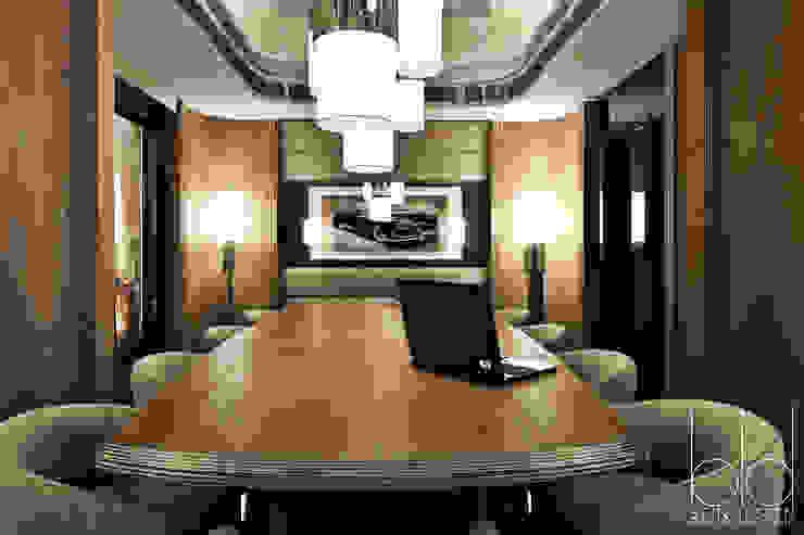 Переговорная комната, арт-деко Гостиницы в эклектичном стиле от BEINDESIGN Эклектичный