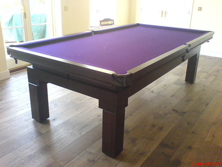 9 ft Friedman Convertible Diner with purple cloth: modern  by HAMILTON BILLIARDS & GAMES CO LTD, Modern