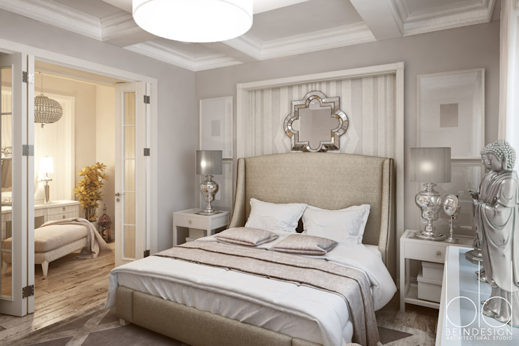Camera da letto in stile classico di BEINDESIGN Classico