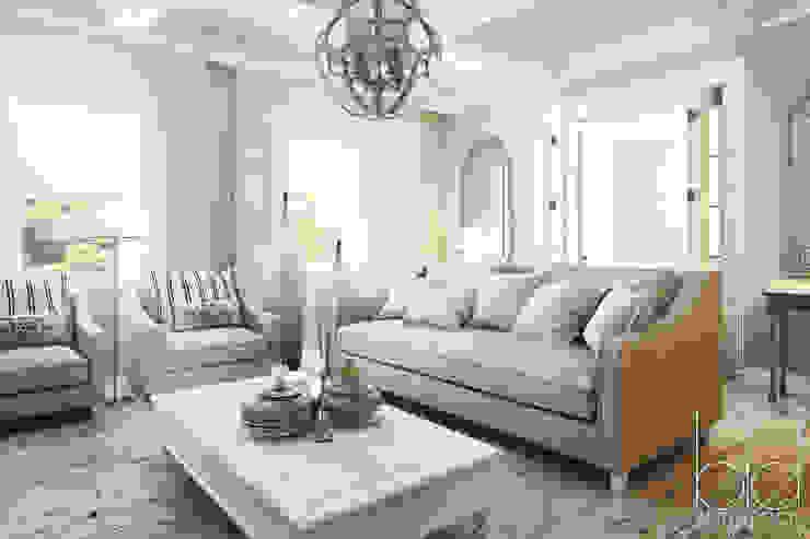 Частный дом, коттеджный поселок <q>Стольный</q> Гостиная в классическом стиле от BEINDESIGN Классический