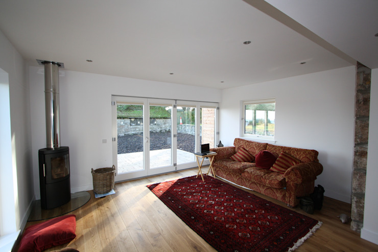 Wellfield Modern living room by Fiddes Architects Modern
