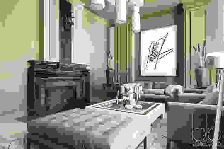 Частный дом, Новые Вешки, гостиная Гостиные в эклектичном стиле от BEINDESIGN Эклектичный