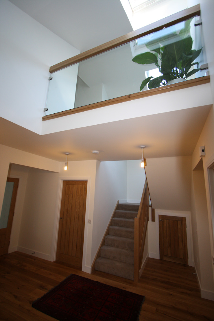Wellfield Modern corridor, hallway & stairs by Fiddes Architects Modern